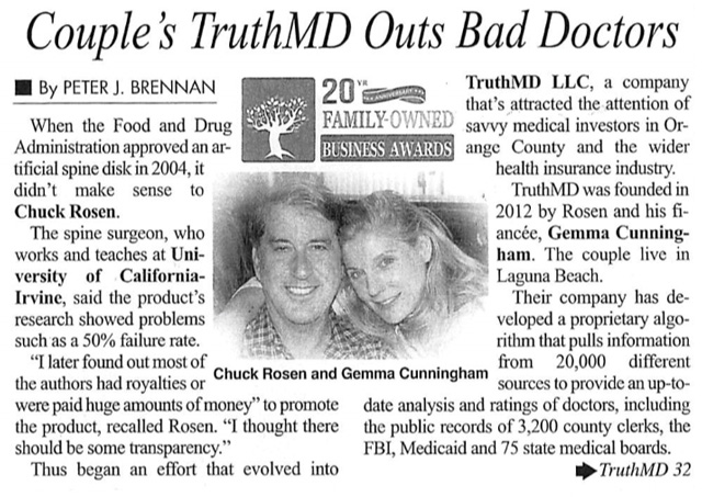 Couple's TruthMD Outs Bad Doctors